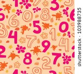 Numbers Seamless Pattern   Pin...