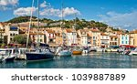 panorama of the harbor of... | Shutterstock . vector #1039887889
