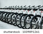 modern bicycles rental shop. | Shutterstock . vector #1039891261