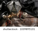composition with muslim lamp... | Shutterstock . vector #1039895131