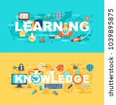 learning and knowledge set of... | Shutterstock .eps vector #1039895875