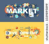 market and development set of...