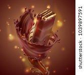 vector promotion banner ... | Shutterstock .eps vector #1039897591