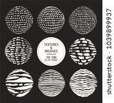 hand drawn textures   brush... | Shutterstock .eps vector #1039899937