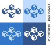 block chain icon | Shutterstock .eps vector #1039900285