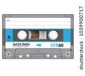vintage audio cassette tape ... | Shutterstock .eps vector #1039900717