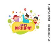 playful kids background with... | Shutterstock .eps vector #1039902841