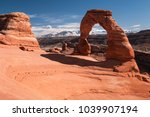 delicate arch is a natural... | Shutterstock . vector #1039907194