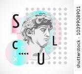 trendy sculpture modern design | Shutterstock .eps vector #1039908901