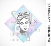 trendy sculpture modern design | Shutterstock .eps vector #1039908994