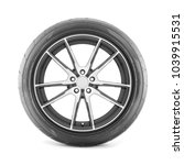 car wheel with tire isolated on ... | Shutterstock . vector #1039915531