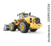 wheel loader isolated on white. ... | Shutterstock . vector #1039915534