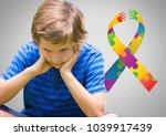 digital composite of boy... | Shutterstock . vector #1039917439