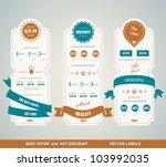 price table vintage | Shutterstock .eps vector #103992035
