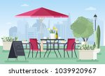 summer outdoor cafe ... | Shutterstock .eps vector #1039920967