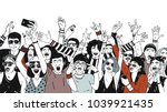 large group of cheerful people... | Shutterstock .eps vector #1039921435