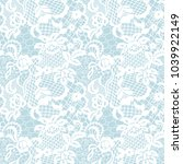 white lace seamless pattern...   Shutterstock .eps vector #1039922149