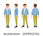 cute smiling teenage boy  teen... | Shutterstock .eps vector #1039922761