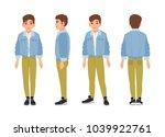 cute smiling teenage boy  teen...   Shutterstock .eps vector #1039922761