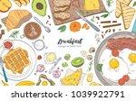 horizontal banner or background ... | Shutterstock .eps vector #1039922791