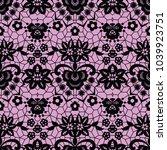 lace black seamless pattern...   Shutterstock .eps vector #1039923751