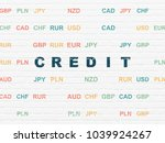 banking concept  painted blue... | Shutterstock . vector #1039924267