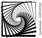 contour lines of overlapping... | Shutterstock .eps vector #1039925734