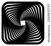 contour lines of overlapping... | Shutterstock .eps vector #1039925737