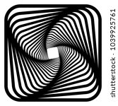 contour lines of overlapping... | Shutterstock .eps vector #1039925761