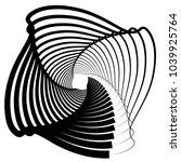 contour lines of overlapping... | Shutterstock .eps vector #1039925764
