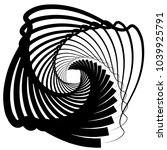 contour lines of overlapping... | Shutterstock .eps vector #1039925791