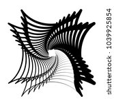 contour lines of overlapping... | Shutterstock .eps vector #1039925854