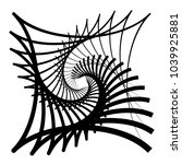contour lines of overlapping... | Shutterstock .eps vector #1039925881