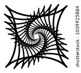 contour lines of overlapping... | Shutterstock .eps vector #1039925884