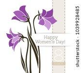 vector flower greeting banner...   Shutterstock .eps vector #1039928485
