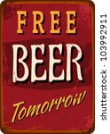 "vintage style tin sign ""free... 