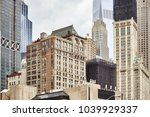 view of old and modern... | Shutterstock . vector #1039929337