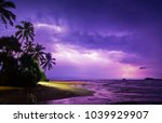 Night Storm On The Ocean With...