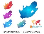 south africa map   set of... | Shutterstock .eps vector #1039932931