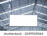 white blank advertising... | Shutterstock . vector #1039935064