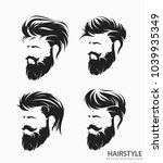 set of mens hairstyle with... | Shutterstock .eps vector #1039935349
