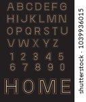 art beown alphabet | Shutterstock .eps vector #1039936015