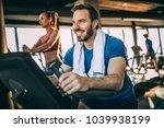 happy mid adult man having fun...   Shutterstock . vector #1039938199