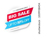 big sale. save up to 50  off.... | Shutterstock .eps vector #1039938454