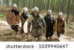 medieval vikings running in the ... | Shutterstock . vector #1039940647