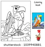 funny griffin. coloring book.... | Shutterstock .eps vector #1039940881