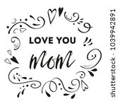mothers day vector greeting... | Shutterstock .eps vector #1039942891