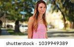 attractive millennial girl...   Shutterstock . vector #1039949389