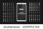about 150 interface icons.... | Shutterstock .eps vector #1039951765