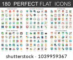 180 vector complex flat icons... | Shutterstock .eps vector #1039959367